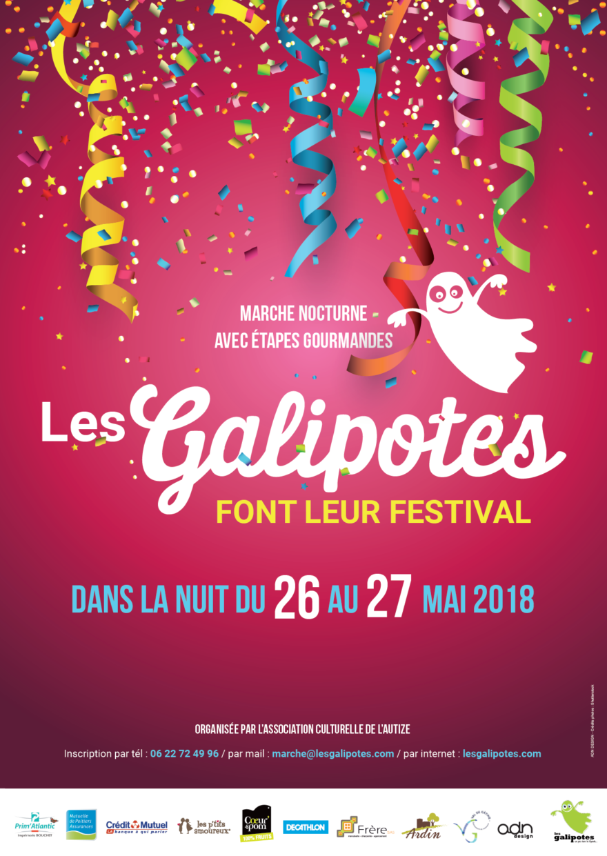 Affiche 2018 de la marche des Galipotes