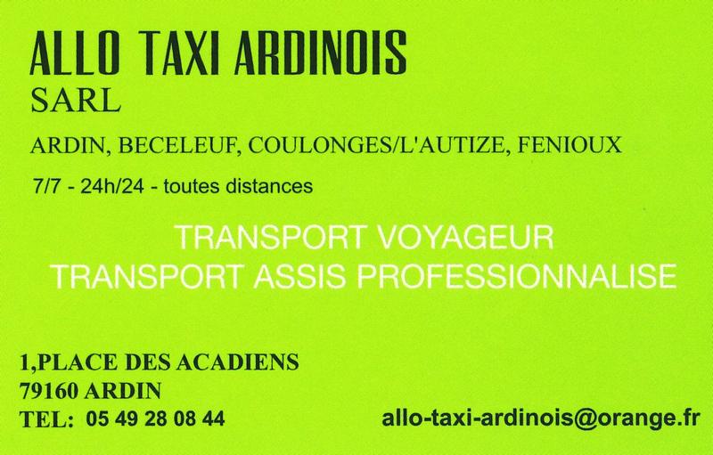 Allo Taxi Ardinois