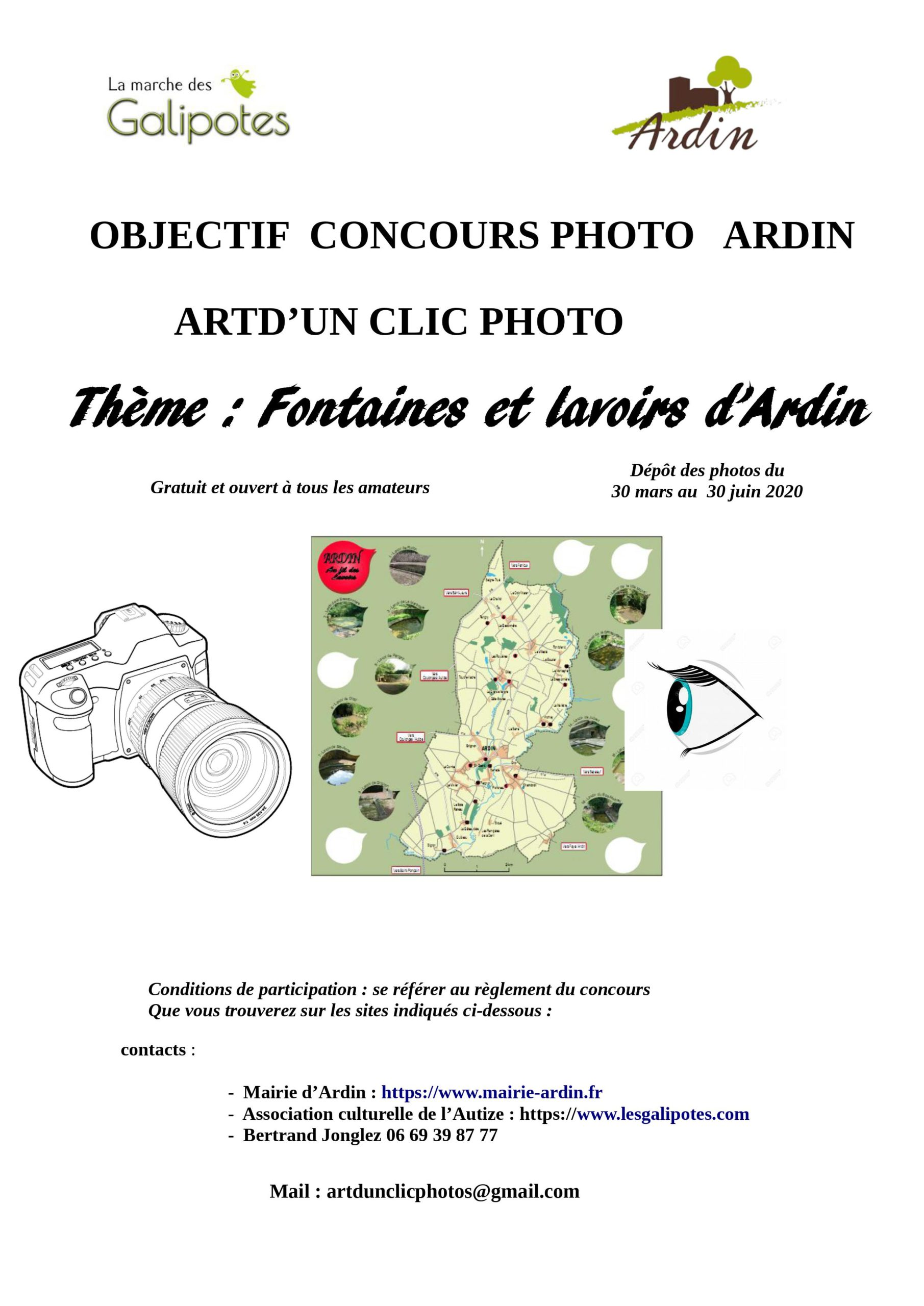Flyer concours photo ardin